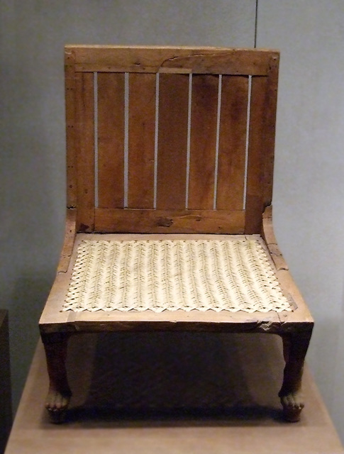 Egyptian Chair In The Metropolitan Museum Of Art, December 2007