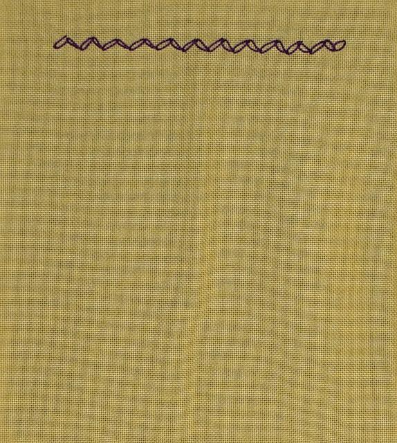#74 - Zig-Zag Chain stitch