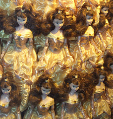 Multiple Belle Dolls in the Window of the Disney Store on 5th Avenue, August 2007