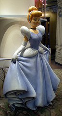 Cinderella Statue in the Disney Store on 5th Avenue, August 2007