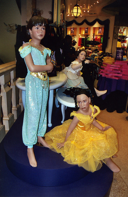 Mannequins in Princess Costumes at the Disney Store on 5th Avenue, Sept. 2006