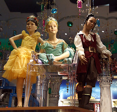 Mannequins in Costumes at the Disney Store in NY, December 2007