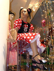 Mannequin in a Minnie Mouse Costume at the Disney Store in NY, December 2007