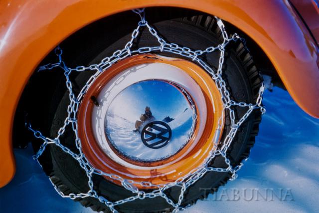 Reflective hub cap
