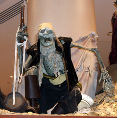 Pirates of the Caribbean Display at the Disney Store on 5th Avenue, August 2007
