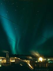 Aurora over Mawson Station