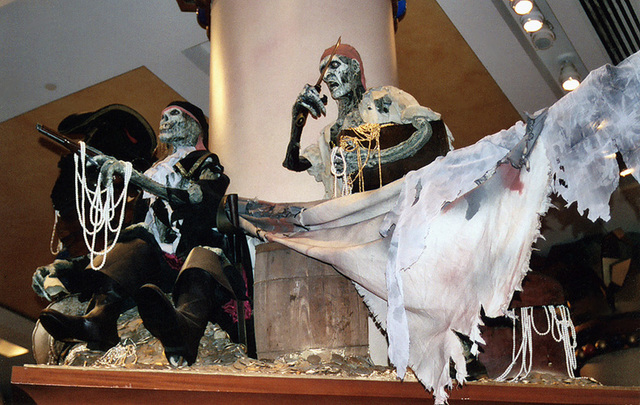Pirates of the Caribbean Display at the Disney Store on 5th Avenue, Sept. 2006