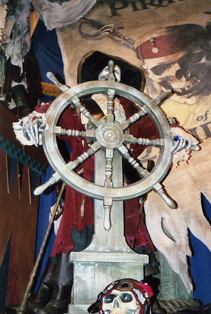 Pirates of the Caribbean Pirate Captain Display at the Disney Store on 5th Avenue, Sept. 2006