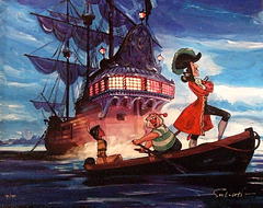 Captain Hook Painting in the Disney Store, June 2008