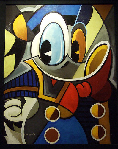 Ipernity Abstract Painting Of Donald Duck In The Disney