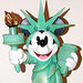 Detail of Minnie as the Statue of Liberty Sculpture in the Disney Store on 5th Avenue, August 2007