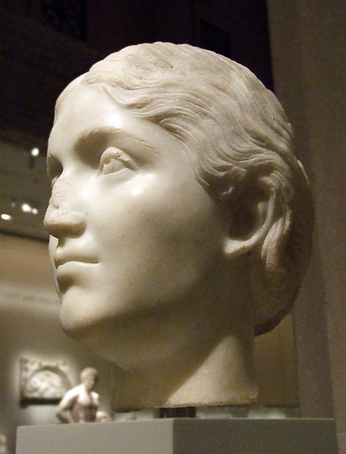 Marble Portrait of an Antonine Woman in the Metropolitan Museum of Art, February 2008