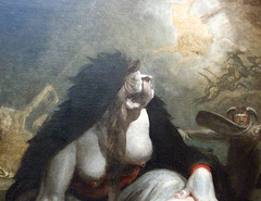 Detail of The Night-hag Visiting Lapland Witches by Fuseli in the Metropolitan Museum of Art, May 2010