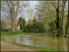 River Cherwell in flood at Oxford