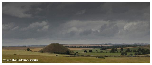 silbury hill from longbarrow