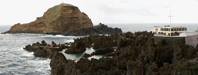 Madeira. Porto Moniz am NW Ende der Insel.  ©UdoSm