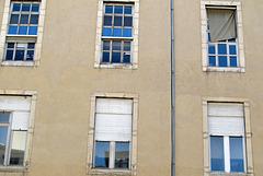 Vieille façade de l'Hôtel Dieu - avant restauration (Quartier de la Presqu'Ile à Lyon) (France, Europe)