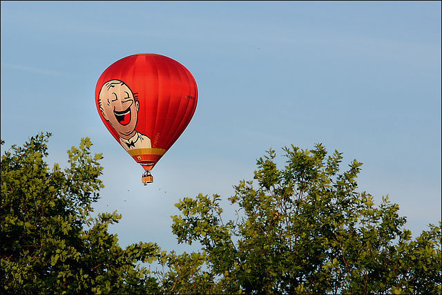 Ballonfahrt am Sonntagabend