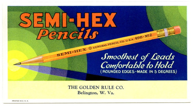 Semi-Hex Pencils--Smoothest of Leads, Comfortable to Hold