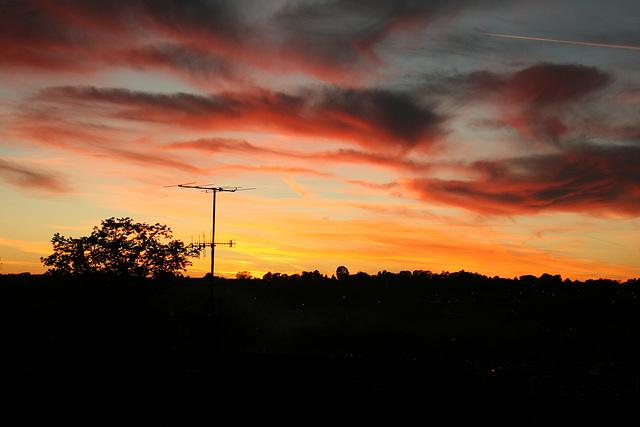 Sunset over Chesham