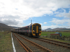 158719 + 158725 approach Strathcarron crossing