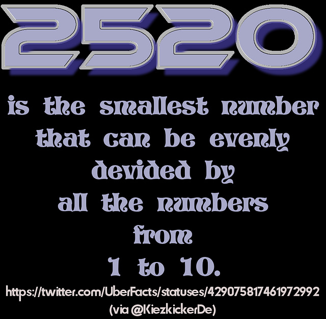 The magical 2520