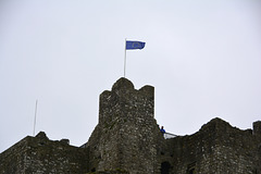 Trim 2013 – European flag on a crumbling old castle