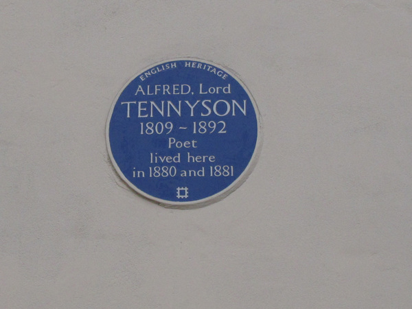 Lord Tennyson blue plaque