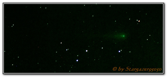 Starrider -- Comet ISON (C/2012 S1) glows green during it's sunbound flight