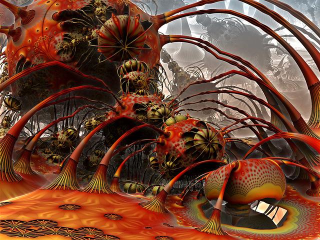 creepy giant spiders