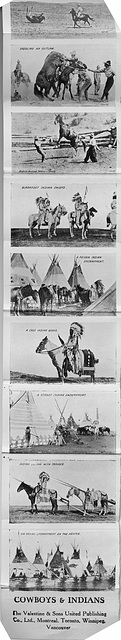 Cowboys and Indians (strip from Greetings from Canada - Saskatchewan card)