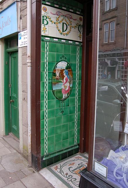 Shop Doorway, Selkirk, Borders, Scotland