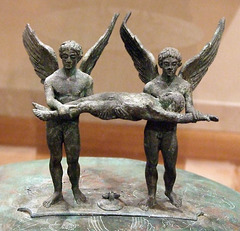 Detail of an Etruscan Bronze Cista from Praeneste in the Metropolitan Museum of Art, February 2008