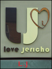 love Jericho sign