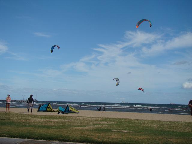 Kite surfing, Altona Beach