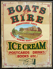 Boats for Hire sign