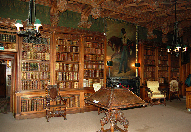 Library, Abbotsford House, Borders, Scotland