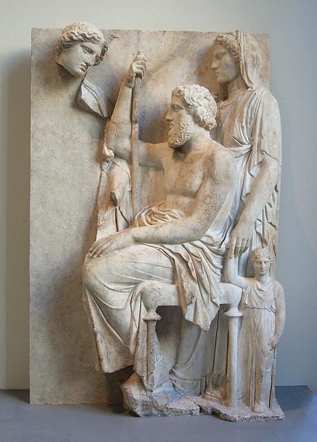 Ipernity Marble Grave Stele With A Family Group In The