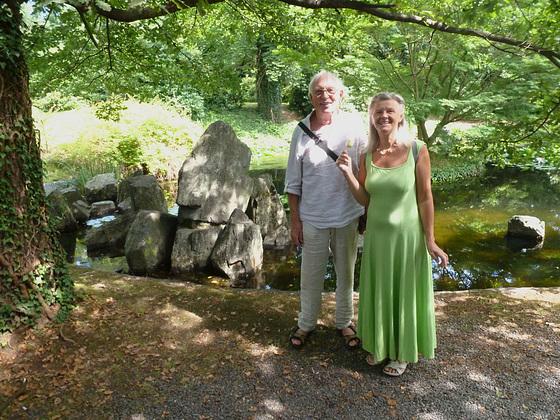 Monika und Ich im Schloßpark - Zuschendorf