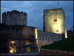 Oxford Castle by night