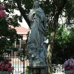 Statue Outside of Our Lady of the Assumption Church in the Bronx, June 2009