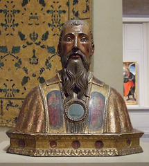 Reliquary Bust of St. Benedict of Nursia in the Philadelphia Museum of Art, August 2009