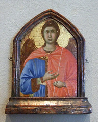 Pinnacle Showing an Archangel by Duccio in the Philadelphia Museum of Art, August 2009