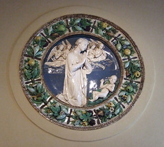 Virgin and Angels Adoring the Christ Child by Della Robbia in the Philadelphia Museum of Art, August 2009