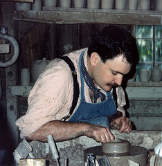 Potter at Old Sturbridge Village, circa 1990