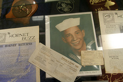 USS Hornet - One of our docents (2827)