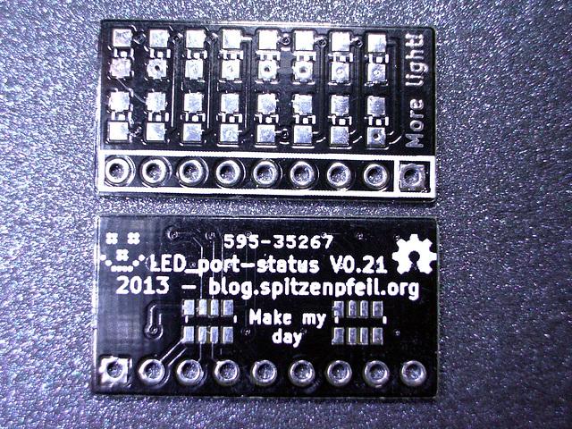Tiny black circuit board