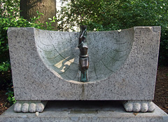 Detail of the Bench with a Sundial in Central Park, May 2011