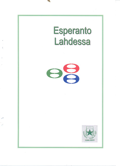 Esa Lång Esperanto Lahdessa