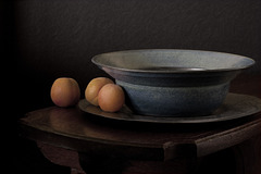 Apricots and Blue Bowl